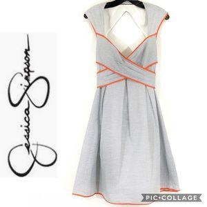 Jessica Simpson seersucker pin-up style dress sz 8